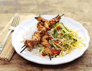 Thai Chicken Skewers with Hot & Sour Mango Salad