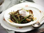 Indian Spiced Asparagus Salad with Poached Eggs