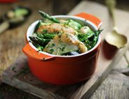 Chicken Braised with Asparagus & Butter Beans