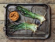 Spring Onions with Smoky Romesco Sauce