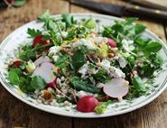 Pearl Barley Tabbouleh with Herby Sheep's Cheese