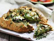 Courgette & Pine Nut Galette