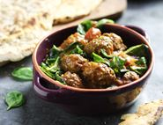 Venison Kofta Masala with Spiced Naan Breads
