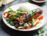 Grilled Thai Salmon with Stir-Fried Veg