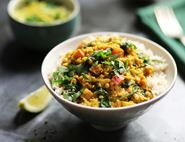 Rhubarb & Lentil Curry