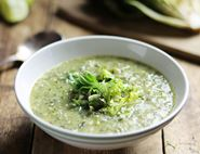 Grilled Romaine, Mint & Lime Soup