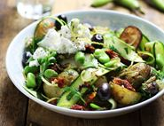 Italian Summer Bean Bowl with Ricotta
