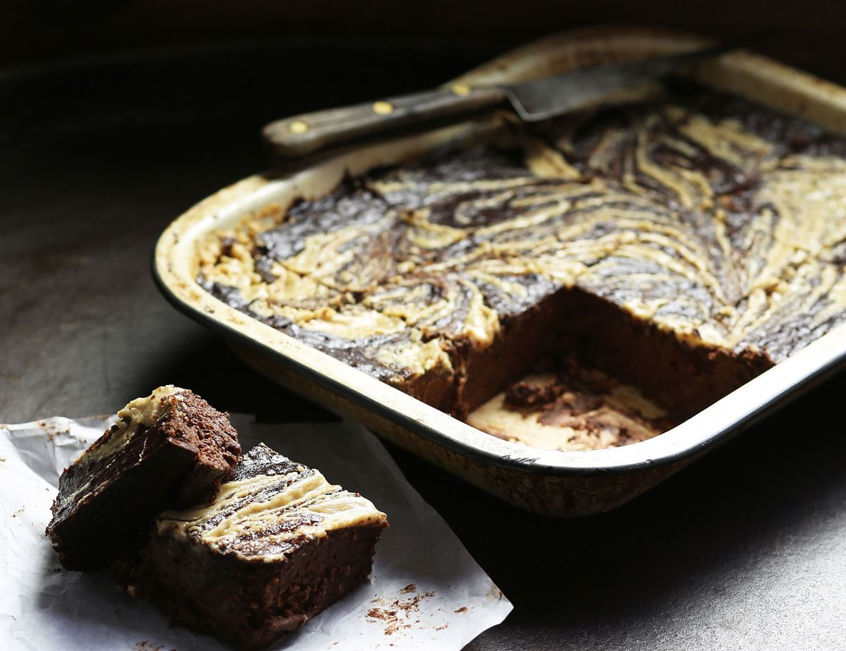 Smokey Aubergine & Tahini Brownies