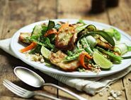Nutty Halloumi Ribbon Salad
