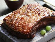 Slow Roast Pork Belly with Gooseberry Sauce
