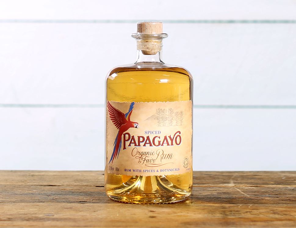 Spiced Rum, Organic, Papagayo (70cl)
