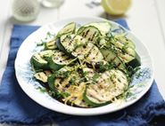 Griddled Courgettes with Lemon & Mint