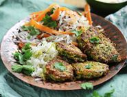 Courgette & Cashew Bhajis with Coconut Slaw