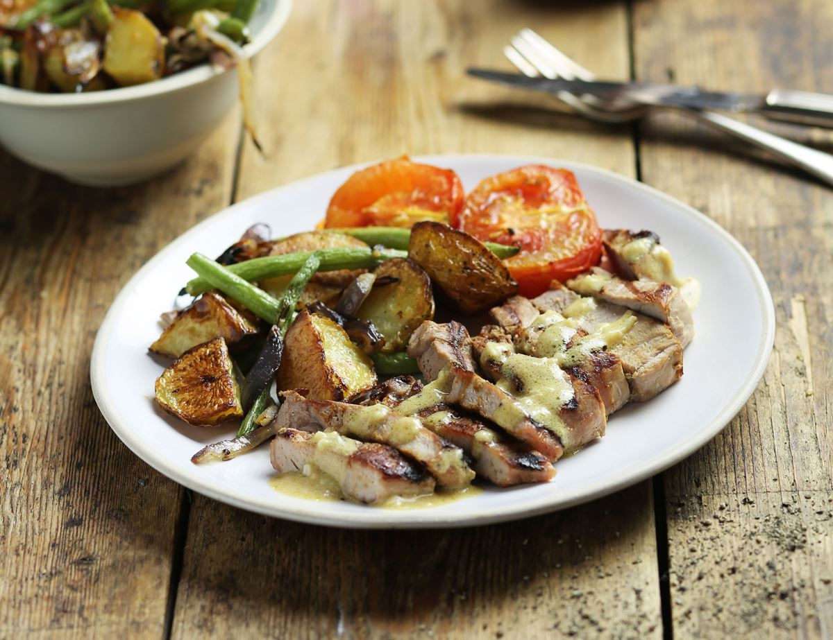 Pork Steaks with Summer Veg