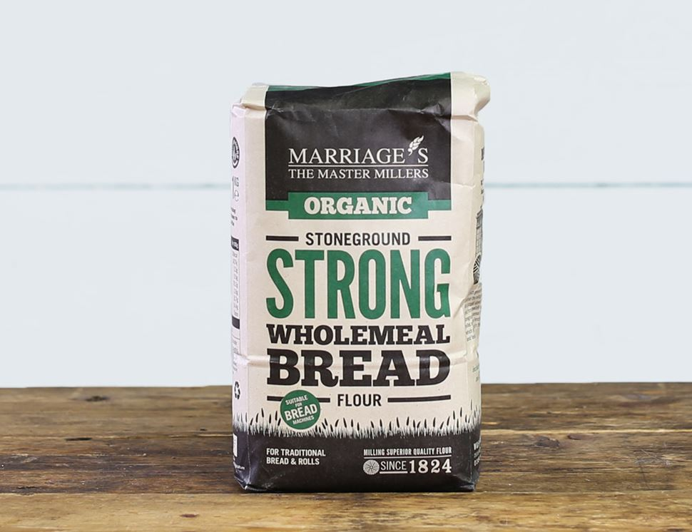 Strong Wholemeal Stoneground Flour, Organic, Marriage's (1kg)