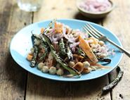 Grilled French Bean & Tahini Salad