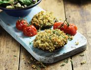 Baked Mushrooms Stuffed with Herby Quinoa