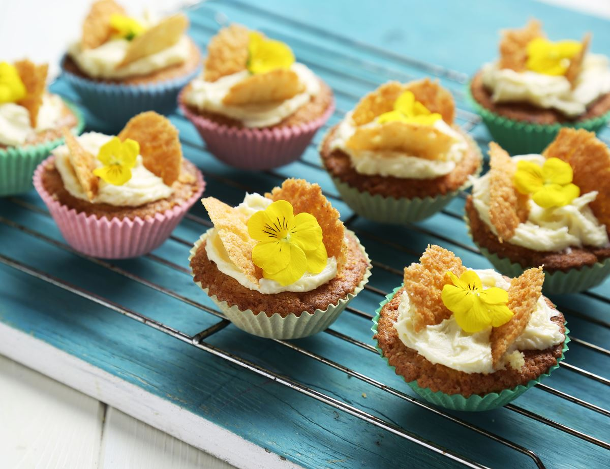 Butterfly Cakes with Honeyed Buttercream