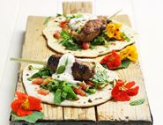 Lamb & Apricot Koftas with Spiced Flatbreads