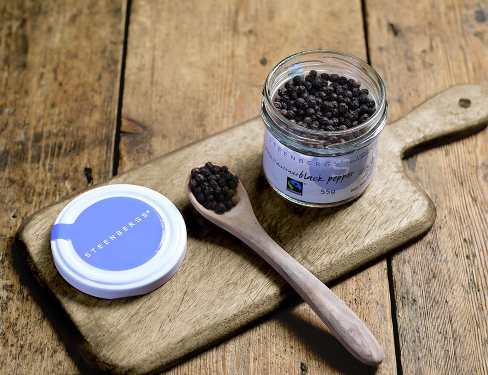 Black Peppercorns, Fairtrade, Organic, Steenbergs (55g)