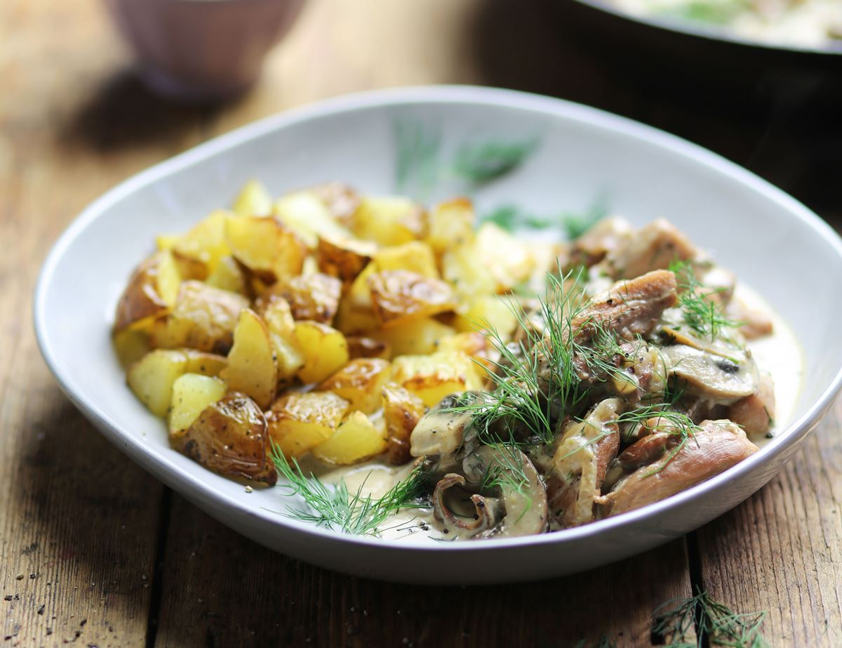 Swedish Chicken with Mushrooms & Cream