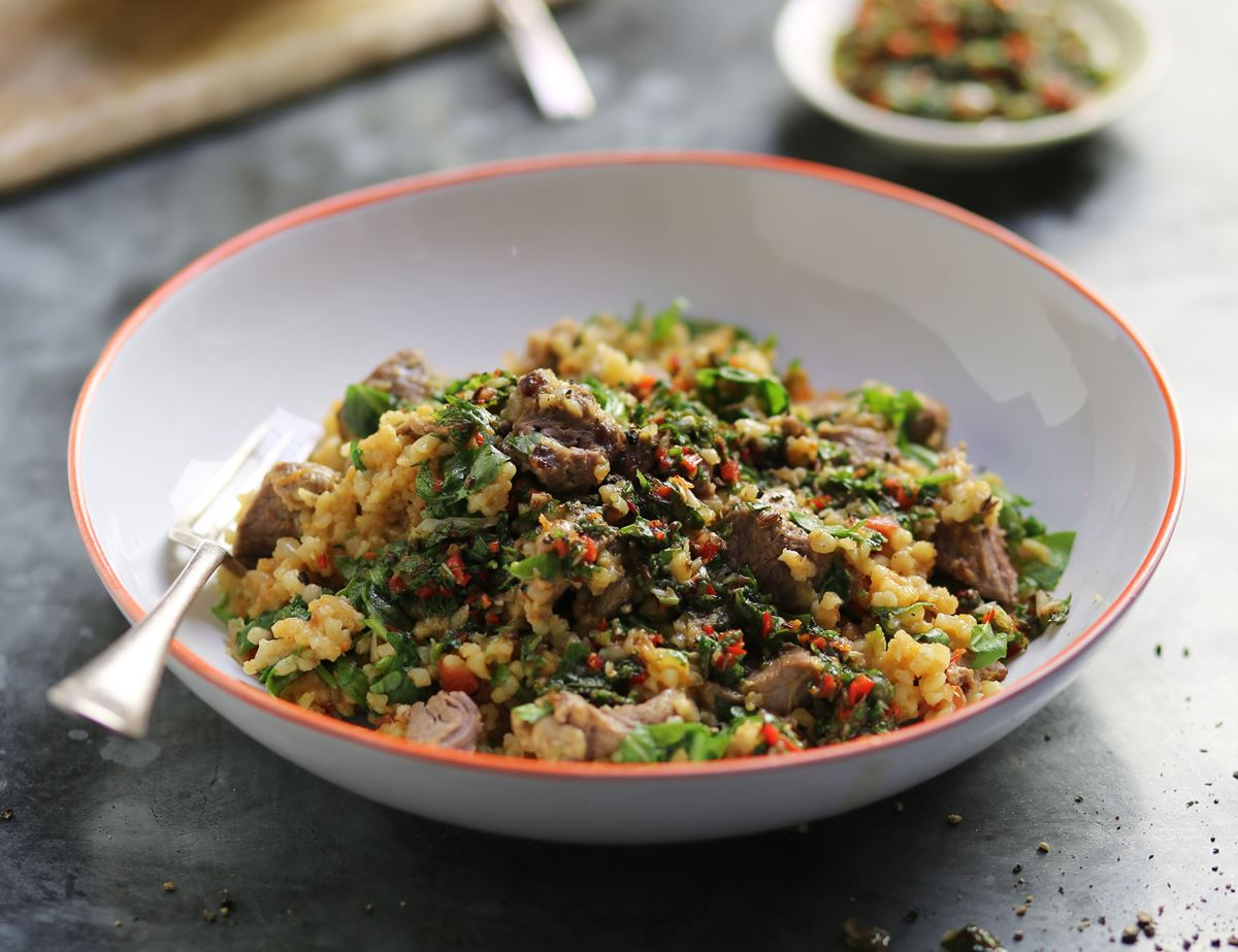 Lamb Pilaff with Coriander Zhoug