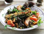 Cumin Grilled Chicken with Tahini Marinated Kale
