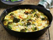 Baked Persian Omelette with Feta & Broccoli