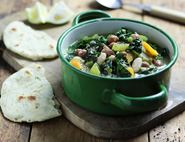 Tuscan Bean Stew with Lemon & Fennel Flat Breads