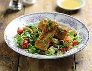 Crispy Fried Halloumi & Roast Vegetable Salad