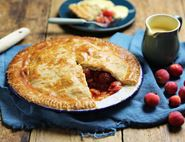 Rosy Crab Apple Pie