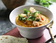 Thai Crab Soup with Pear Salsa
