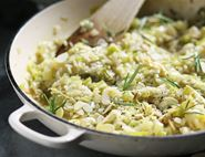 Lemon, Leek & Toasted Almond Risotto