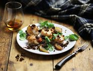 Haggis, Scallops & Fried Pear