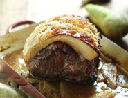 Slow Cooked Pork with Cardamom Roast Pears