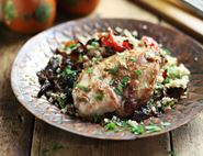 Sticky Moroccan Chicken with Spiced Prunes