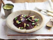 Smoked Beetroot with a Turmeric & Cashew Dressing