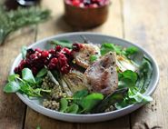 Wild Partridge Breasts with Cranberry Relish