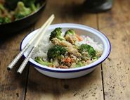 Stir Fried Crab with Broccoli & Ginger