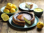 Baked Bergamot Cheesecake with Bergamot Curd
