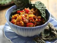 Winter Vegetable Chilli with Cavolo Nero Crisps