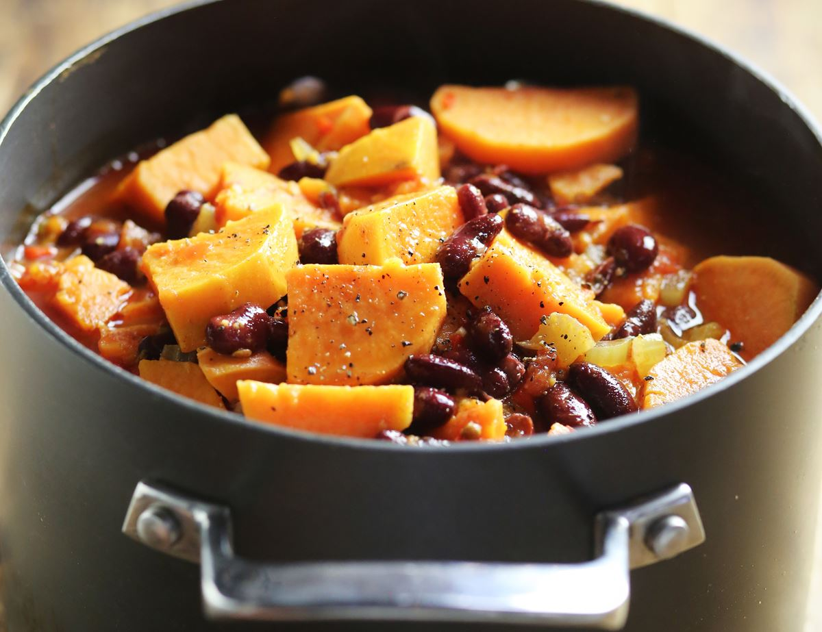 Mexican Bean & Sweet Potato Hot Pot