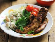 Peruvian Griddled Chicken with Smashed Potatoes