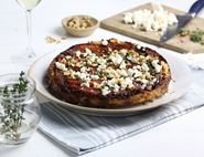 Spiced Carrot, Caramelised Onion & Feta Tarte Tatin