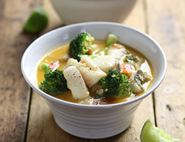 Thai Red Fish Curry with Coconut & Broccoli