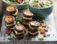 Sweet Potato & Halloumi Stacks with Guacamole