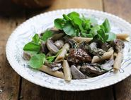Penne with Garlicky Porcini Mushroom Sauce