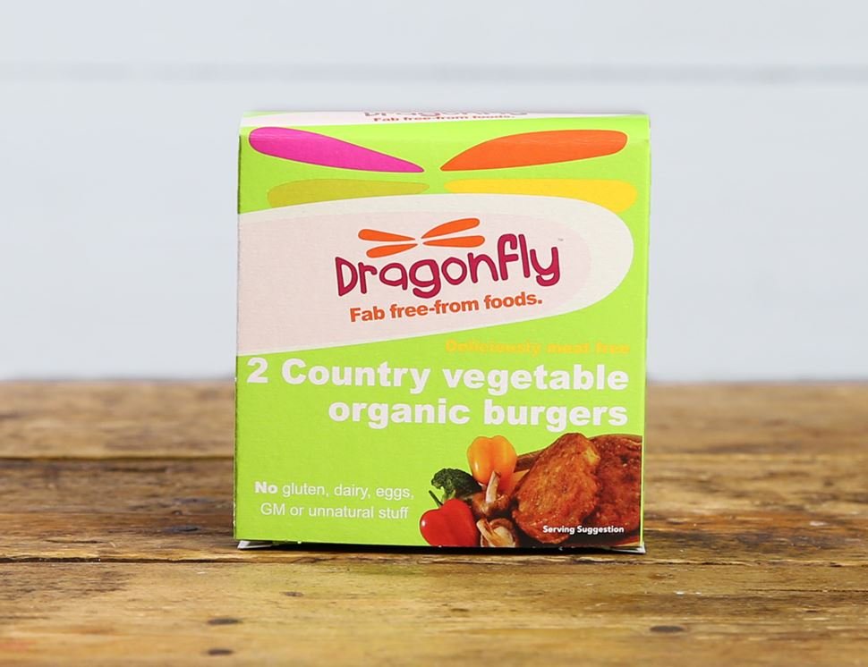 Country Vegetable Burger, Organic, Dragonfly (2 x 100g)