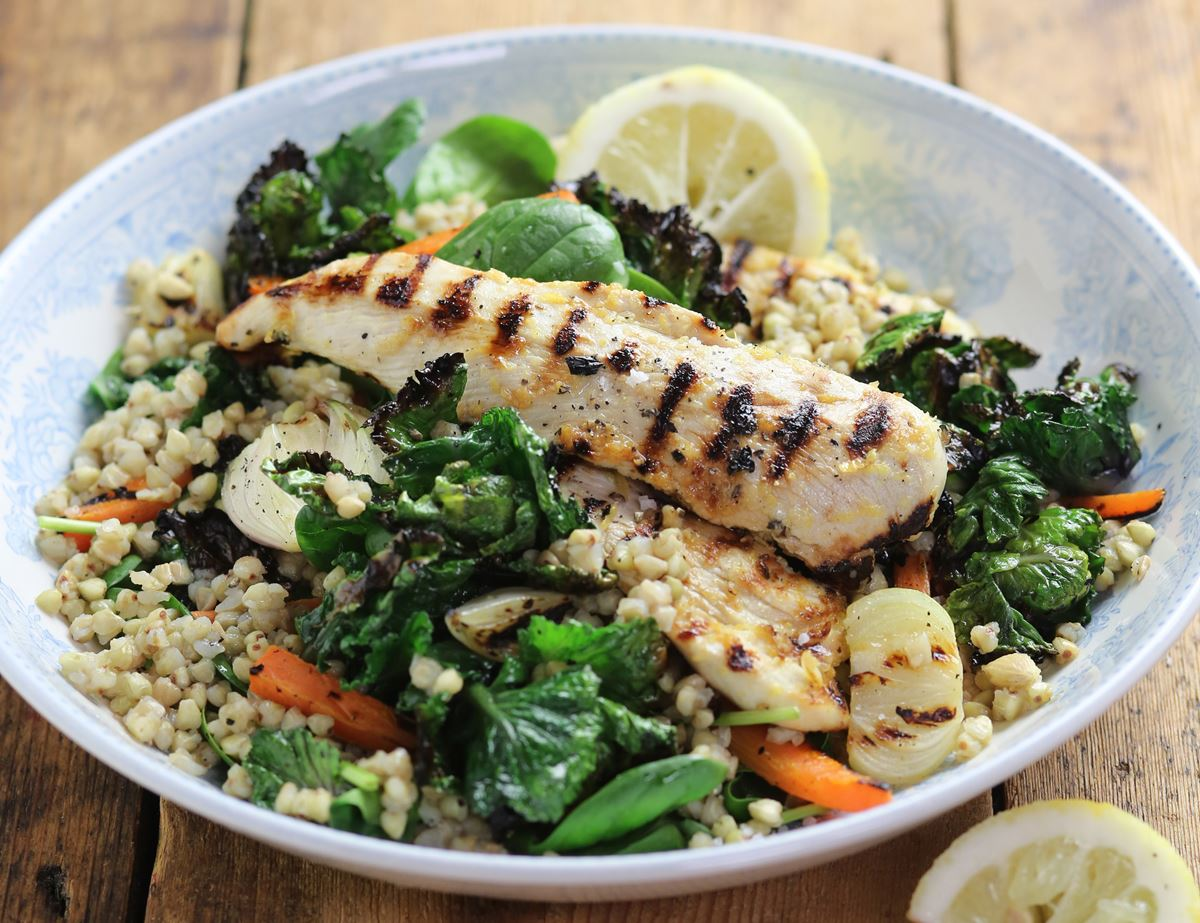 Griddled Chicken, Kalettes® & Buckwheat Bowl