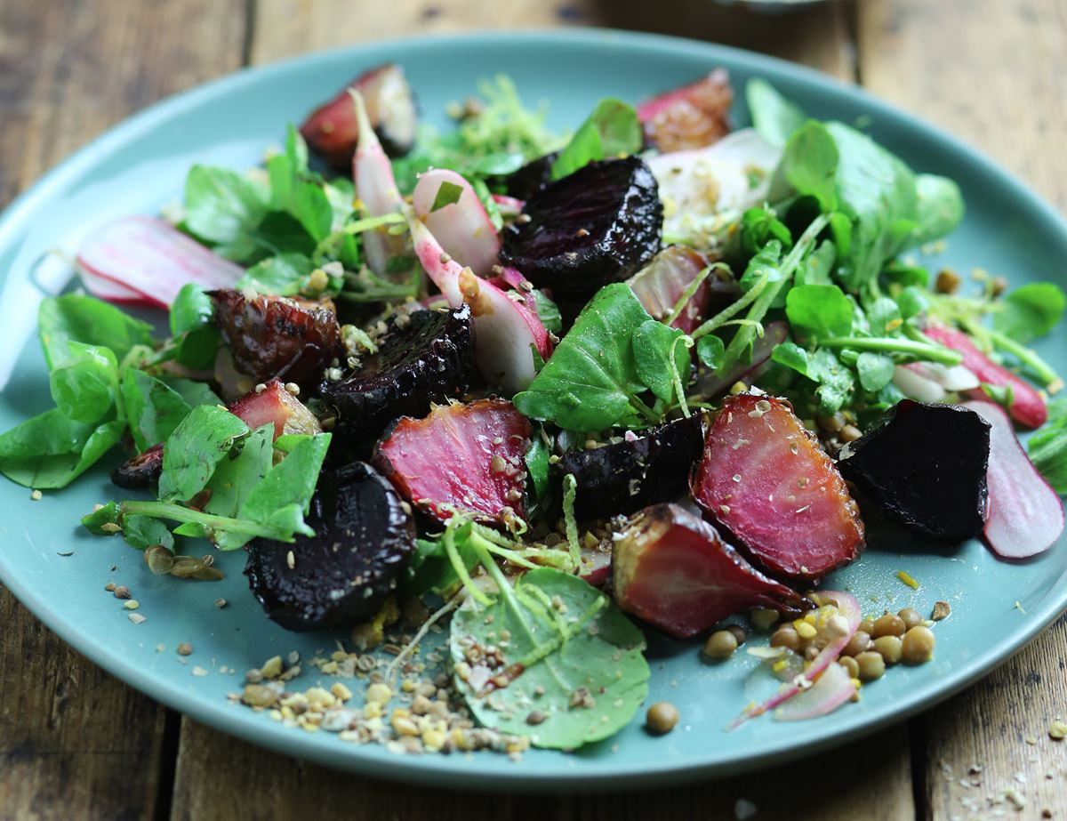 Persian Sweet & Sour Baby Beets & Herby Lentils